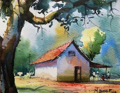 Amazing Watercolor Painting by Indian Artist Mahesh Honule