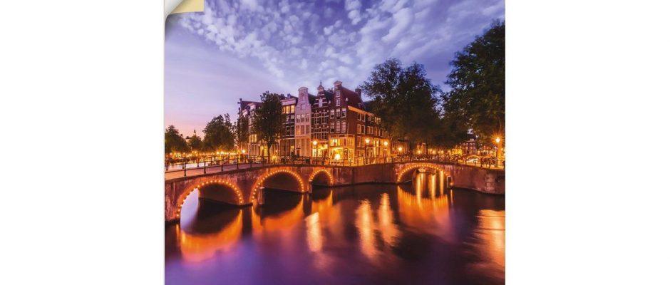 Premium Wandfolie »M. Viola: Amsterdam Abendidylle«