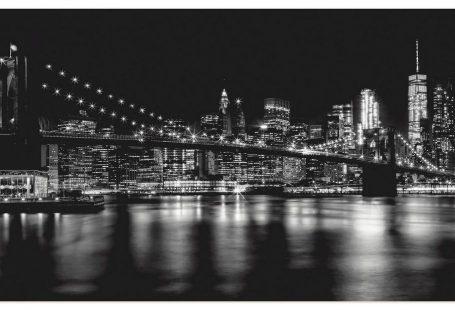 Premium Wandfolie »M. Viola: Manhatten Skyline, Brooklyn Bridge«