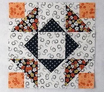 Aunt Dinah Quilt Block Free Pattern