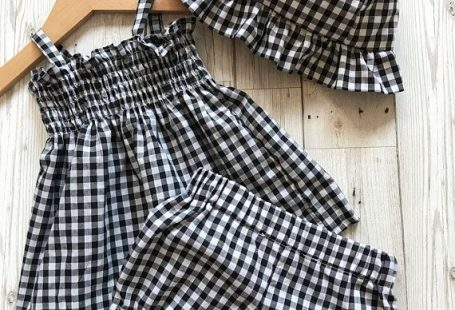 Baby Girl Clothes - Gingham Baby Outfit - Baby Shower Gift - Gingham Baby Girls Dress - Baby Summer Dress - Baby Clothing Set - Baby Hat - afflink