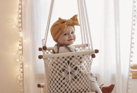 Oh my gosh! I just stumbled across this beautiful store on Etsy and fell in love with their handmade Macrame baby swings and hammocks.