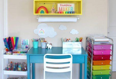 Beautiful Kids Art Centers to Encourage Creativity - The Organized Mom #artspacesforkids #kidsart #creativekids