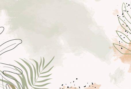 Beige leafy watercolor mobile phone wallpaper vector