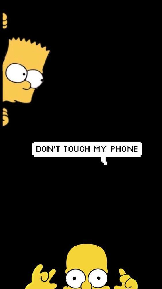 Don't touch my phone#Blacksimpsoncartoon #Blacksimpsonwallpaper #Blacksimpsonart #Blacksimpsoncharacter #blackwallpaperiphon