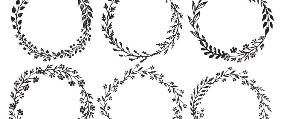 Branches, wreaths, wedding design by Fancy art on Creative Market