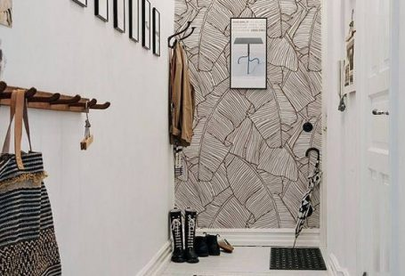 Braune Blätter abnehmbarer Wallpaper braun Wandbild