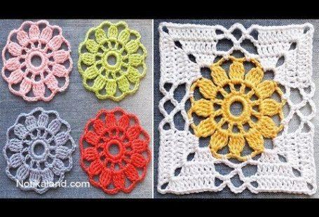 CROCHET EASY Crochet Granny Square Motif #2 - YouTube