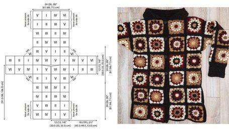 Cafe Latte Crochet Coatigan
