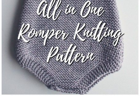 Lovely all in one romper knitting pattern. Great pattern for a beginner or a more experiences knitter. Perfect baby gift! #knit #knitting #pattern #handmadegift