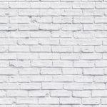 Clean White Brick Wallpaper Mural