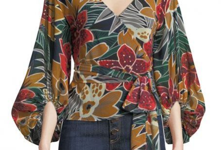 Get free shipping on Club Monaco Riston Floral-Print Wrap Blouse at Neiman Marcus. Shop the latest luxury fashions from top designers.