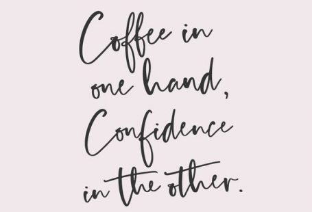 Coffee in one hand....