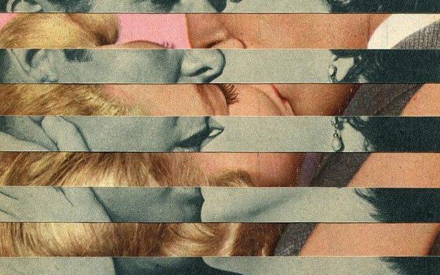 Het mooie aan deze collage is dat je steeds maar één beeld kunt zien terwijl er er twee zijn.