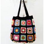 Crochet Bag Retro Bag Granny Square Bag by KNITANDCROCHETWORLD
