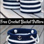 Free Crochet Nautical Basket