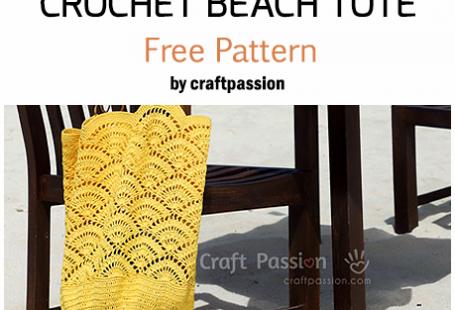 Crochet Beach Tote - Free Pattern For Crocheting A Beautiful Bag #crochet #crochetpatterns #crochetbag