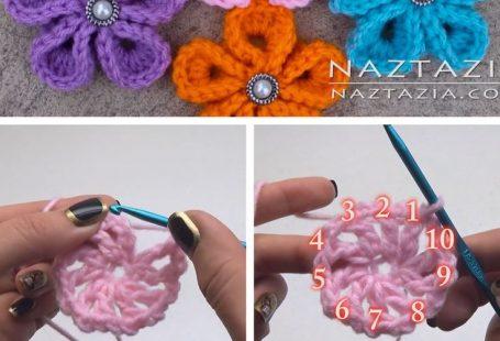 Crochet Kanzashi Flowers You Can Easily Make