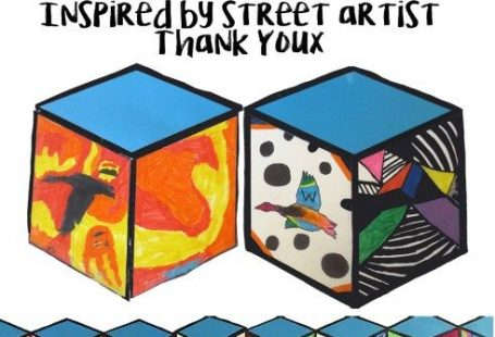 Cube Mural Inspired by Street Artist Thank YouX