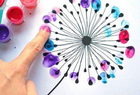 Daumenabdruck Löwenzahn Kid Craft Idea mit frei d... - #Craft #Daumenabdruck #donttouchmyafro #frei #idea