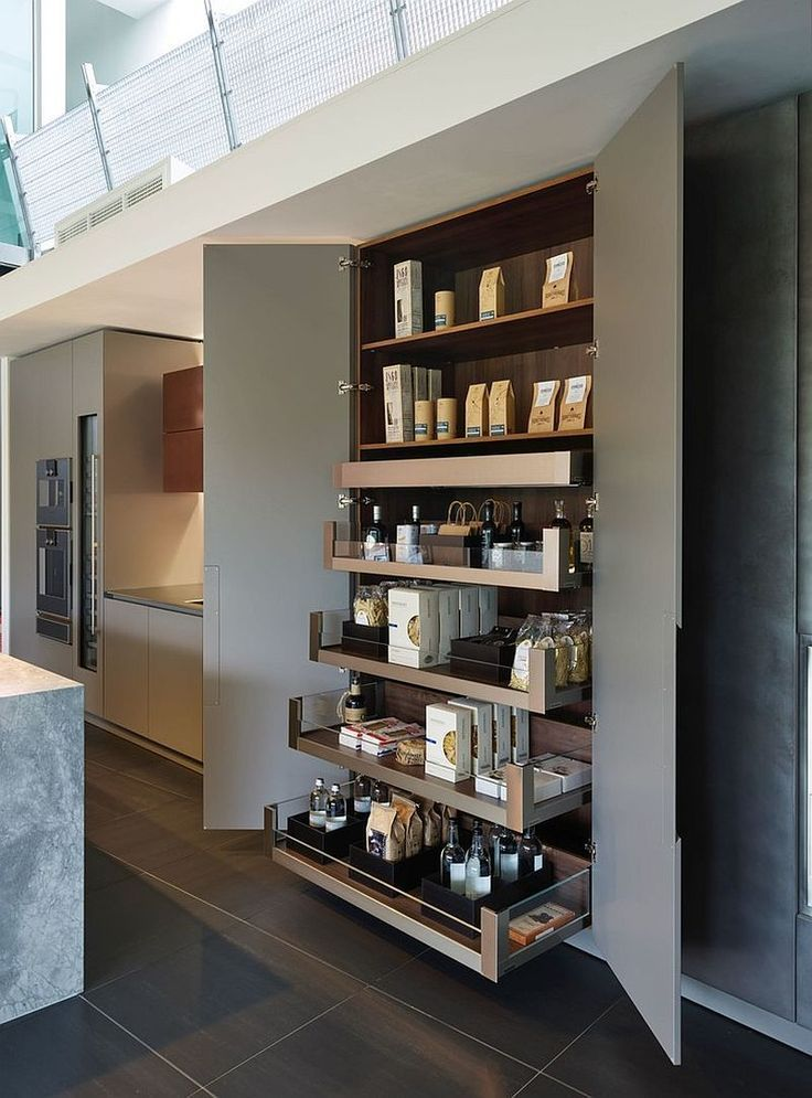 Slim and stylish pantry for the minimal contemporary kitchen