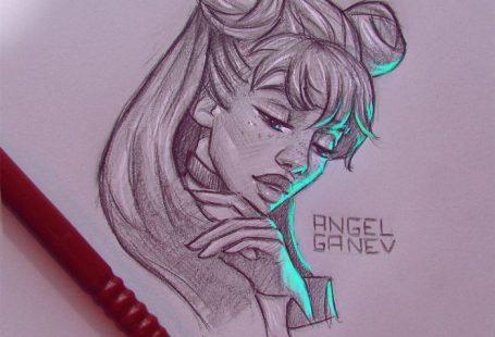 Dessins et lumière par Angel Ganev  Dessein de dessin