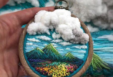 Diese Stickerei Künstler verwendet Faden anstelle von Farbe, um erstaunliche Landschaft zu erstellen ... - #anstelle #Diese #erstaunliche #Erstellen