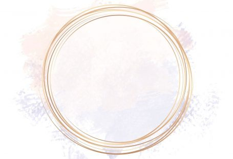 Gold circle frame on a pastel pink and purple background vector