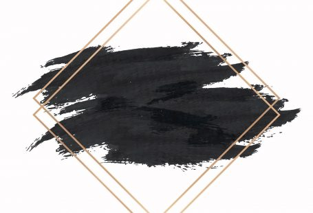 Gold rhombus frame on a black background vector