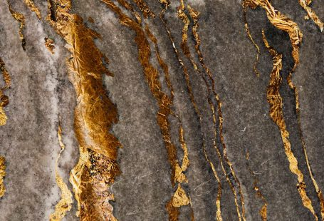 Gray marble rock with gold textured mobile phone wallpaper