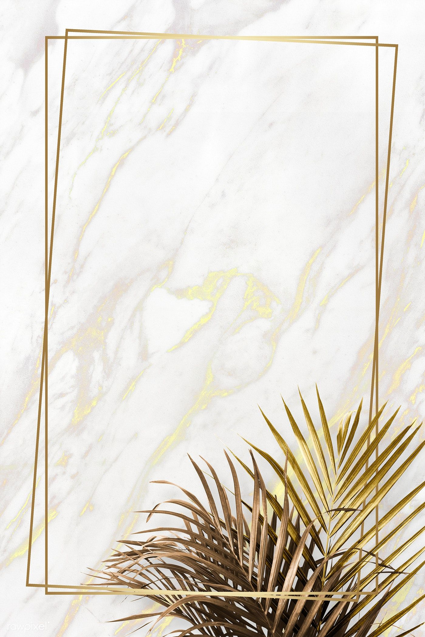 Rectangle golden frame on a marble background   premium image by rawpixel.com / Adj / HwangMangjoo / marinemynt