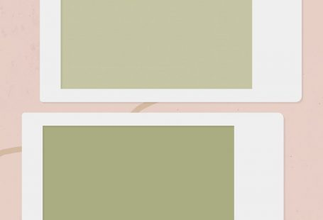 Blank collage photo frame template on pink background vector mobile phone wallpaper