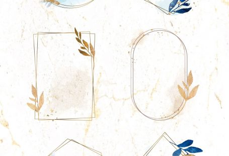 Christmas gold frames on beige marble background collection vector