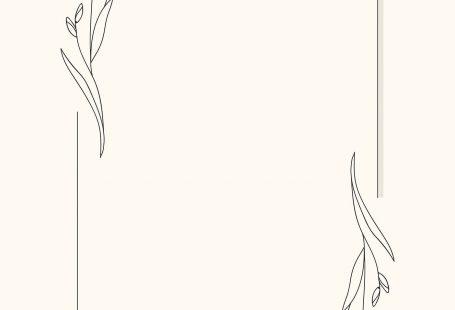 Hand drawn flower frame background vector