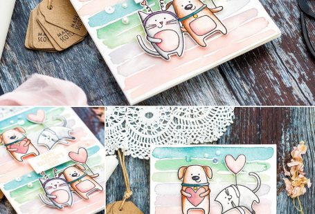Easy watercolour background handmade card tutorial by Debby Hughes using supplies from Simon Says Stamp. Click to find out more. #handmadecard #homemade #watercolourtutorial