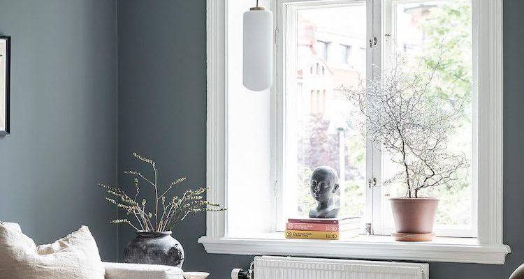 Een Zweeds huis met de mooiste aardachtige blauwe muren  #aardachtige #blauwe #mooiste #muren #zweeds