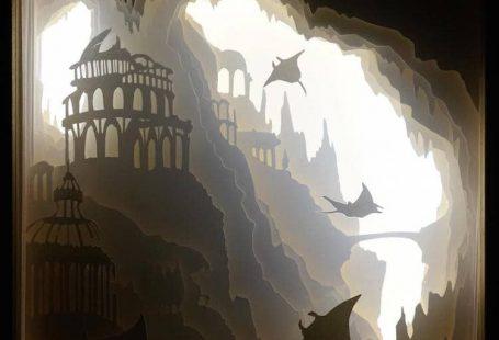 Enchanting Paper-Cut Light Boxes Illuminate Mythical Scenes