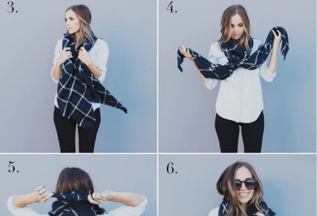 Just how do you tie a blanket scarf?! Here