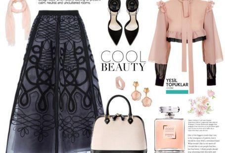 Sıcak yaz günlerinde beyaza kafa tutan siyah cool etekler, günlük yaşamda tercihimiz olacak! Tesettürlü kadınlara özel hazırladığımız yeni giyim önerileri YeşilTopuklar