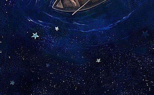 Star,ferry,star,water,Night sky,Romantic Star,Child,H5 background,h5,Cartoon,Childlike,Hand Painted