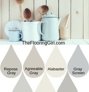Farmhouse style paint shades from Sherwin Williams.  These modern farmhouse style shades will transform you home into a cozy rustic look.  #farmhouse #painting #farmhousestyle #rusticdecor