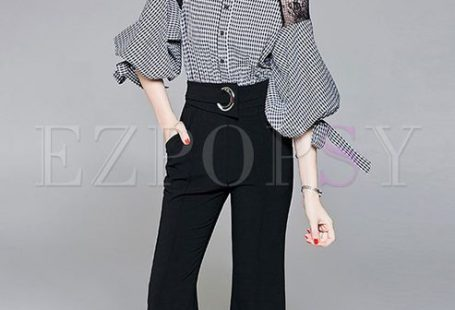 Shop Fashion Checkered Puff Sleeve Flare Jumpsuit at EZPOPSY. Discover fashion online.
