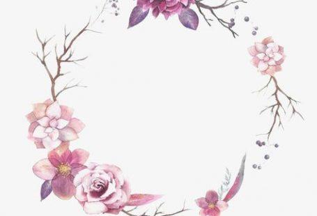 Flor frontera, Ronda Frontera, Watercolor Flowers, Decoracion De Flores Imagen PNG