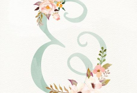 Floral Ampersand - FREE Printable www.christielacy....