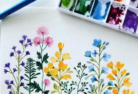 """Floral Art Hub auf Instagram: """"Pretty wildflowers von artist @ishajunedesigns __..., #Art #artist #auf #Floral #flowerpainting"""
