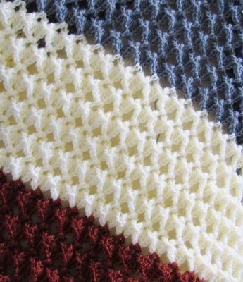 Free crochet afghan pattern with a beautiful texture - Crochet Dreamz
