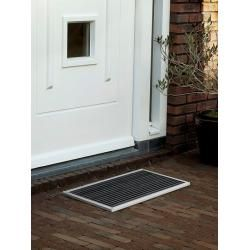 Outdoor-Fußmatte Urban Rizz silber, Designer Teun Fleskens, 2.2x58x36 cm Rizzrizz