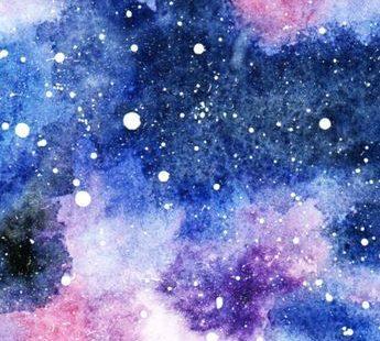 Galaxie in Aquarell Aquarell ist eine meiner Lieblingsfarben zum Malen. Diese wunderschöne Galaxie ist sehr einfach nachgemalt. Bevor du drauf