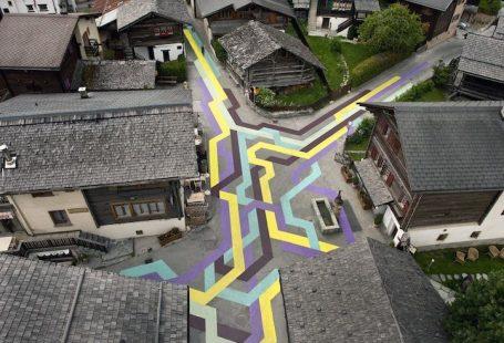 Art that incorporates an entire village