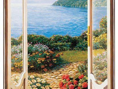 """""""Giardino Sul Lago"""" by Del Missier Art Print Plaque"""